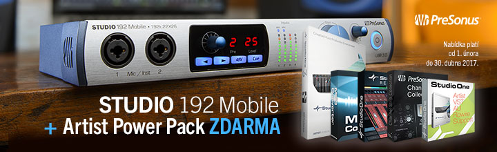 PreSonus Studio 192 Mobile + Arist Power Pack zdarma