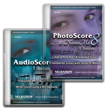 PhotoScore and NotateMe Ultimate 8 + AudioScore Ultimate 8
